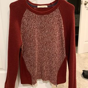 Rewind Deep Red Knitted Sweater